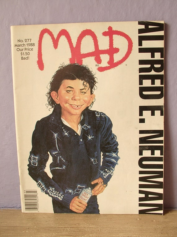 vintage mad magazine no 277 michael jackson cover by