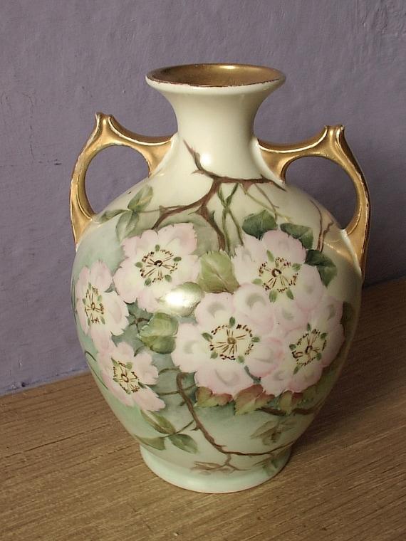 Antique Porcelain Hand Painted Vase Mz Austria By