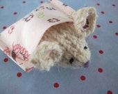Tiny Pocket Mouse, Organic Undyed Lambswool Hand Knit