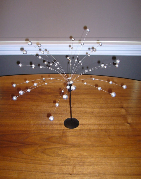Silver & Black Galaxy Atomic Kinetic Ball Spray Sculpture - Laurids Lonborg style