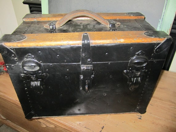 Child's Wooden Trunk Vintage