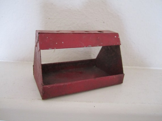 Industrial Metal Carrier Vintage Red