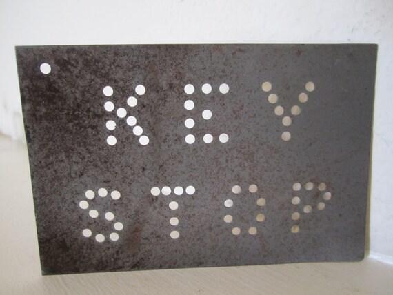"""Metal Stencil  """"Key Stop"""""""