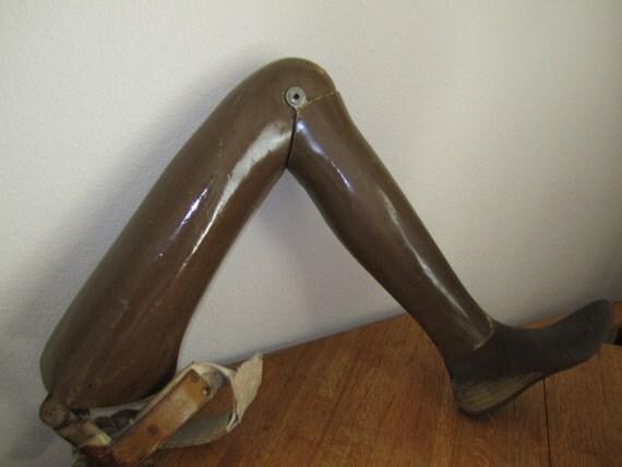 Vintage Prosthetic Leg - Complete