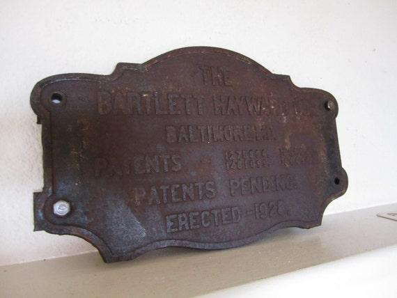 Cast Iron Bridge Sign Plaque