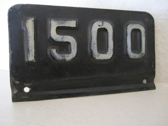 Industrial Number 1500 Metal Plaque By Stepbackink On Etsy