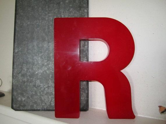 Letter R Vintage Red