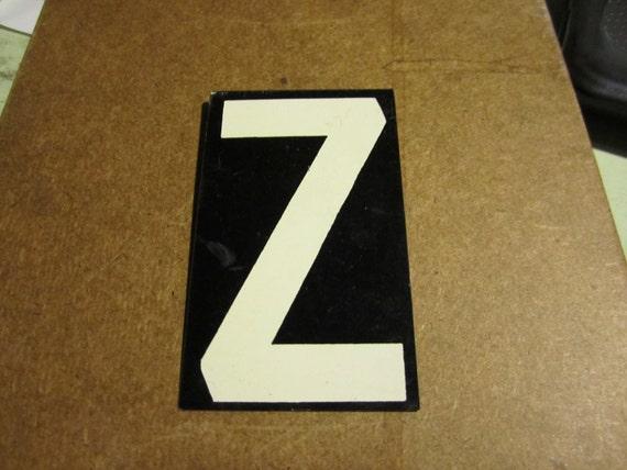 Vintage Letter Z Metal