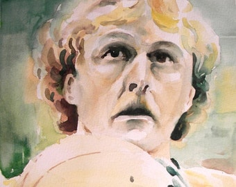 Original Watercolor Portrait - Larry Bird