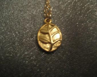 24K Gold Vermeil Oval Leaf Necklace