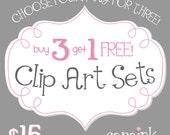 Four Clip Art Sets