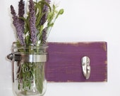 SALE- Cottage Chic- 1 Hook- Flower Vase- Key Hook- Violet- Cottage Chic- French Chic- Shabby- Country Decor- Choose From Many Colors