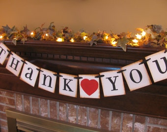 Wedding Banner Thank You Perfect Photo Prop for Bride and Groom Pick Your Colors (W42)
