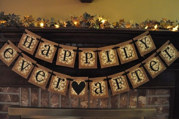 Wedding Banner Bundle Reception Anniversary Bride Groom Shower Garland Sign Photo Prop Choose Your 4 Banners Custom and Personalized (W23)