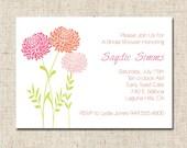 Custom Digital Bridal or Baby Shower Invitation Elegant and Modern Printable