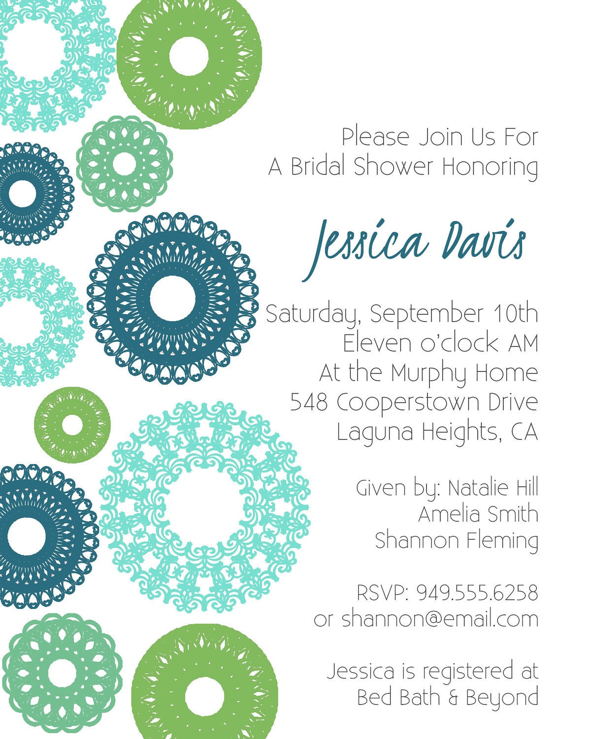 ... 10> Images For - Printable Bridal Shower Invitations Templates Free