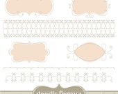 Journal Tags - Label Frames Clipart  - Set 8