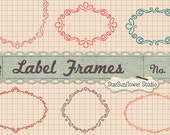 Journal Tags - Label Frames Clipart - Set 10 with Custom Shapes and Vectors