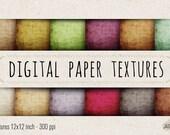 JJD Digital Scrapbook Paper Textures Pack No 001 12x12