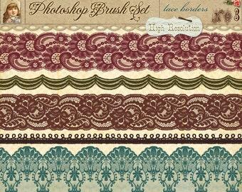 Lace Borders No. 3 - Photoshop Brushes