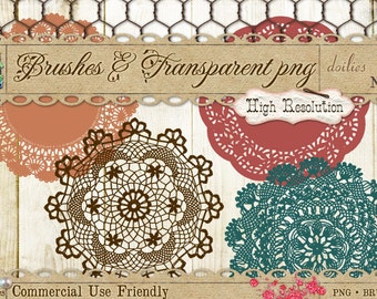 Doilies 1 Brushes and Digital Clipart PNG
