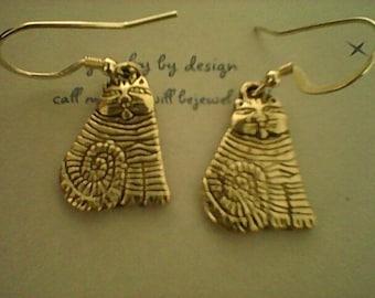 cat earrings/silver