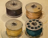 Four Bobbins - oil painting
