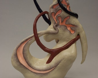 Little Capgras original ceramic sculpture
