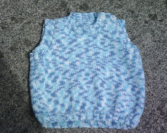 Patterned blue cosy tank top