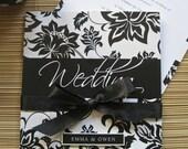 Vintage Wedding Invites in Black and White