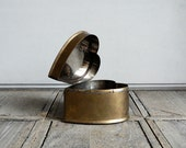 VINTAGE ///// Brass Heart Box