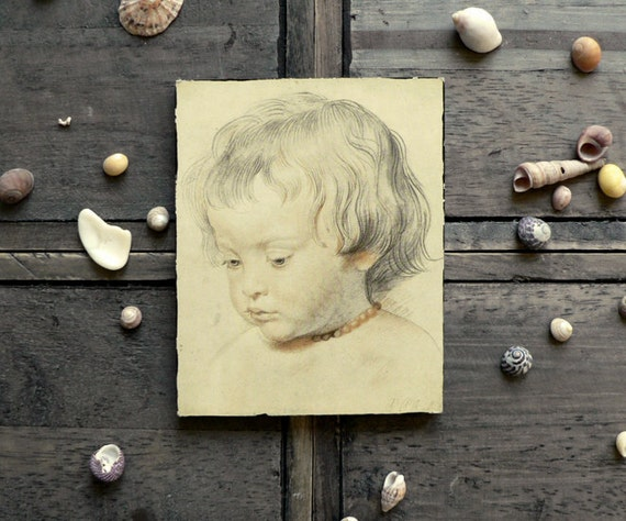 VINTAGE ///// Small Color Reproduction of a Child