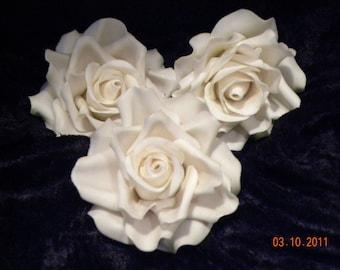 Gum Paste Roses, x lg.
