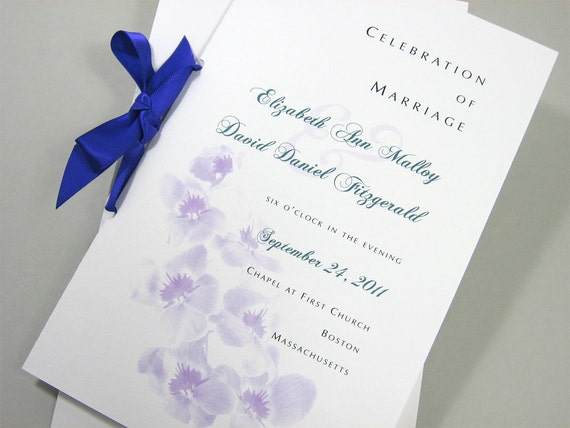 Wedding Program Booklet In Floral Spring Summer Ceremony