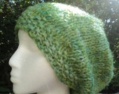 Clearance, 50% off, Slouch Hat, Wool/Mohair, lime green