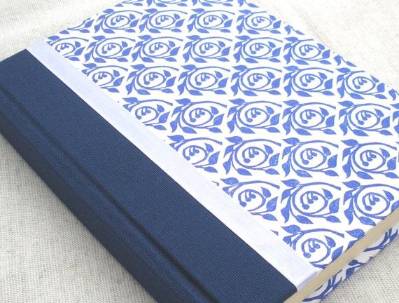 Indigo blossom lined journal