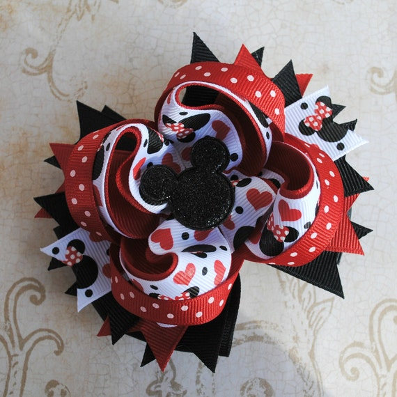 Minnie Mouse Bow - Layered Boutique Bow
