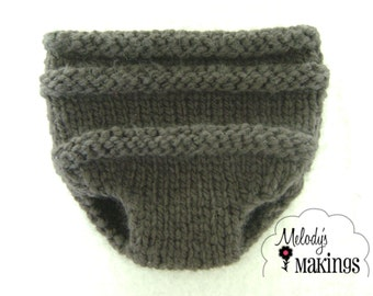 Knit Unisex Diaper Cover Knitting Pattern - PDF Sale - Instant Digital Download