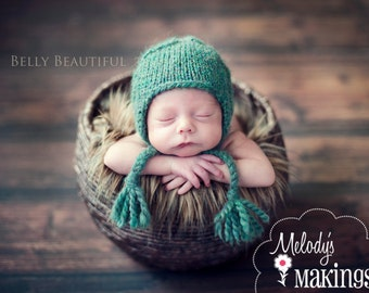 Cabled Earflap Hat Knitting Pattern - All sizes from Newborn to Adult Woman included - PDF Sale - Instant Digital Download