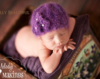 Mohair Violet Hat Knitting Pattern - 5 Sizes Included - PDF Sale -  Instant Digital Download
