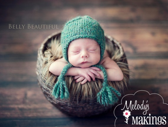 Cabled Earflap Hat Knitting Pattern - All sizes from Newborn to Adult Woman included - PDF Sale