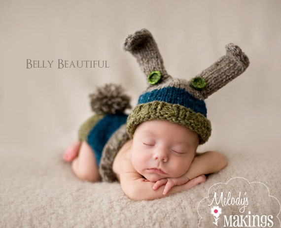 Knit Bunny Set Pattern - Knit Baby Bunny Outfit Pattern - Knit Baby Bunny Set Pattern - Knit Bunny Costume Pattern - Knitting Pattern