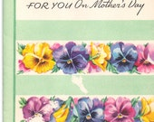 UNUSED 1940s Vintage Happy Mothers Day Greeting Card: For YOu On Mothers Day