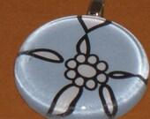 Pale Blue Flower Pendant