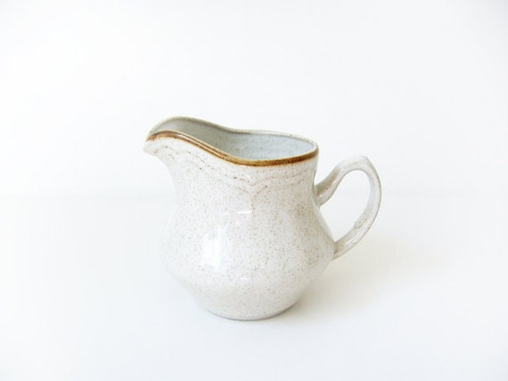 Vintage Sweet & Simple Beige Creamer