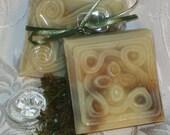 Handmade Homemade Moisturizing West Coast Hand Made Homemade Soap Bar Cold Process Aloe Vera, Vitmain E Oil, and Sea Kelp