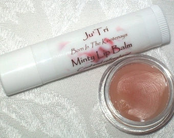 Handmade Homemade Minty Lip Balm Moisturizing Lip Repair For Dry or Cracked Lips