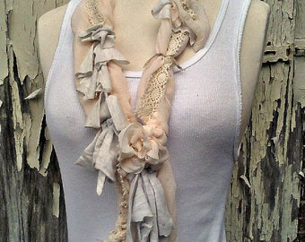 still waters' multi texture vintage style neck wrap