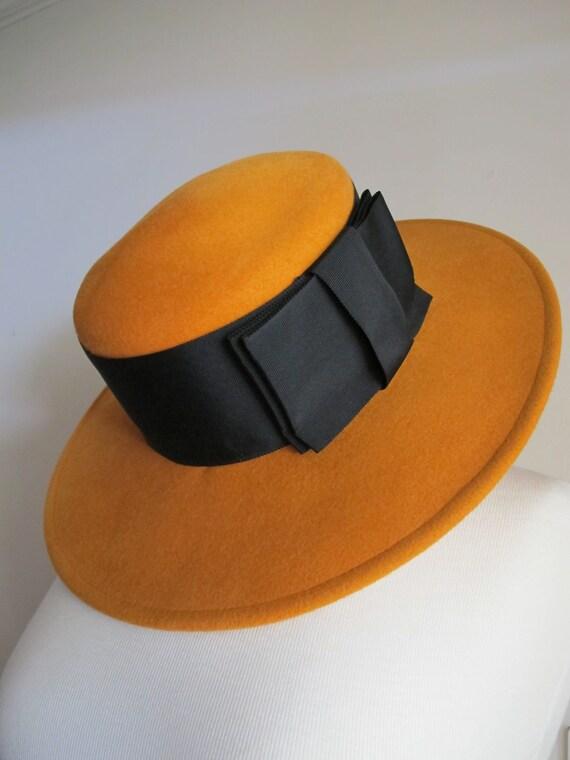 50s 60s Hat / Brimmed Hat / 60s Wide Brim Hat