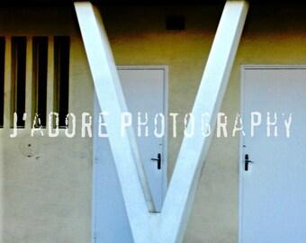 The Wandering Ex-Housewife Unframed Alphabet/Letter Photograph - 'Letter V'